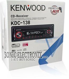 kenwood kdc-138 car stereo (kdc138) - sonic electronix, Wiring diagram