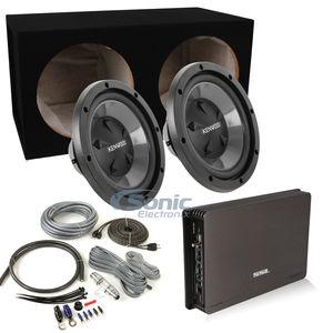 2 kenwood kfc 12 subs soundstorm evolution amp kit sub box rh sonicelectronix com